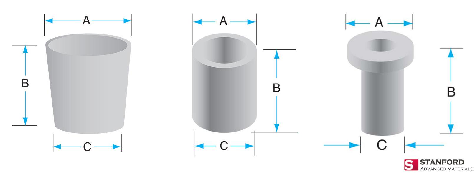 crucible shapes