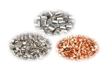 zinc copper evaporation materials