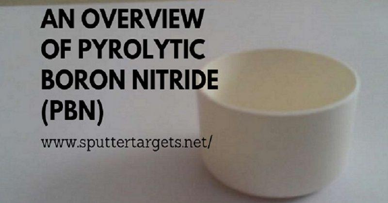 Pyrolytic Boron Nitride Crucible