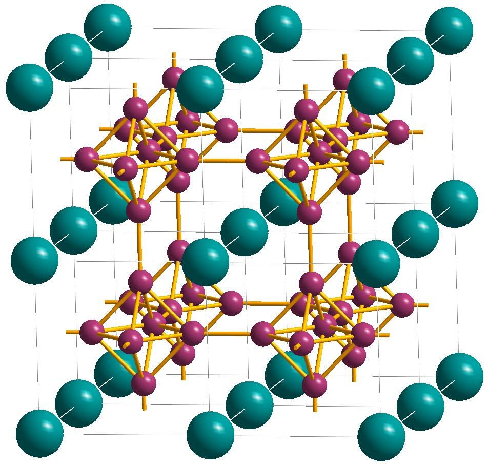 Lanthanium Boride Structure