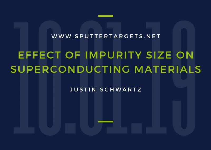 Effect of Impurity Size on Superconducting Material