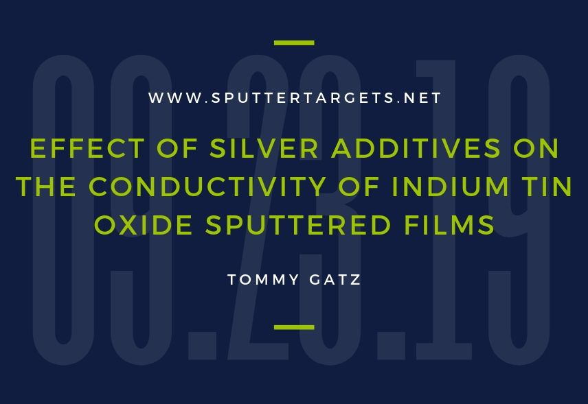Effect of Silver Additives on the Conductivity of Indium Tin Oxide Sputtered Films